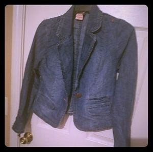 Jackets & Blazers - Trendy Denim Blazer